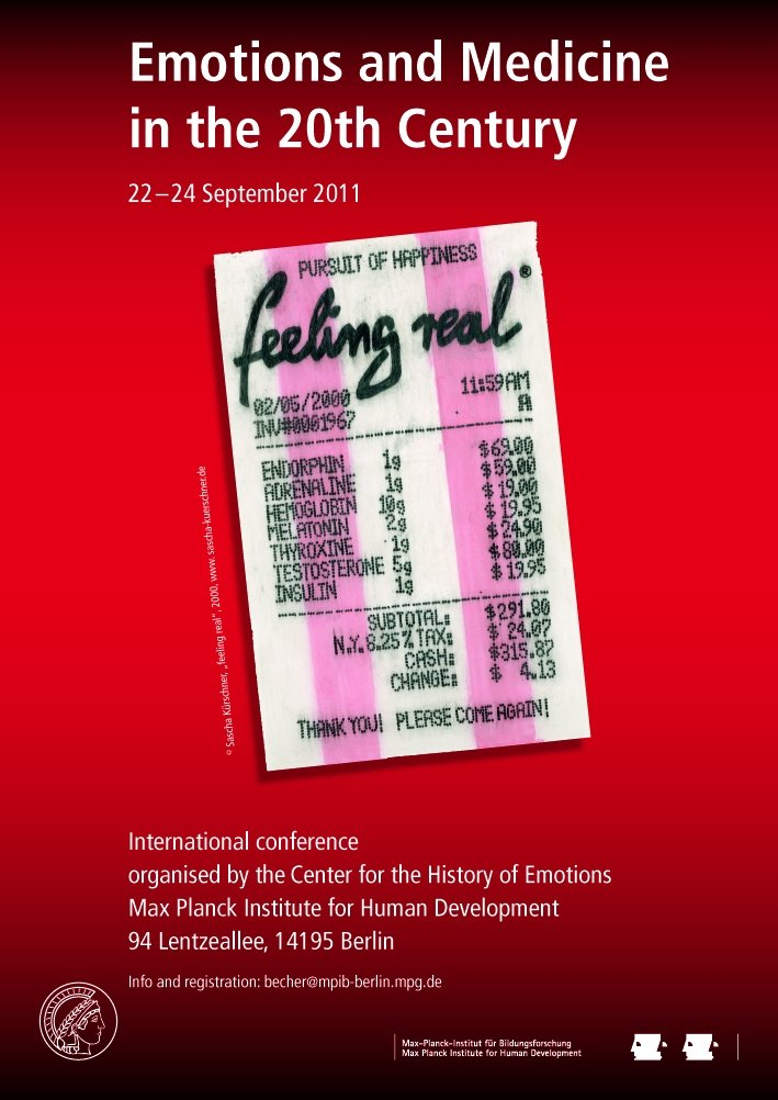 Emotions and Medicine in the 20th Century<br />22.-24. September 2011