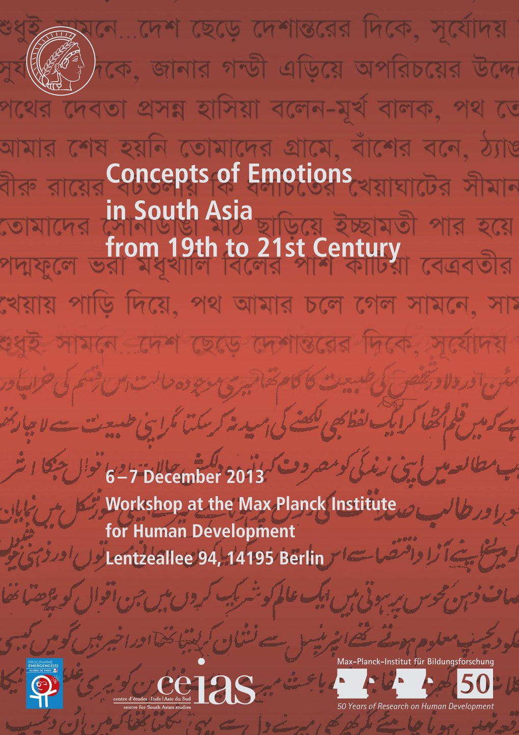 Concepts of Emotions in South Asia from 19th to 21st Century<br />6.-7. Dezember 2013